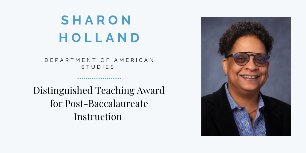@AMST_UNC professor Sharon Holland is a teaching award winner who fosters confidence and collaboration in her students. https://t.co/nnCoRlMQBZ https://t.co/SuGjuVHdxV