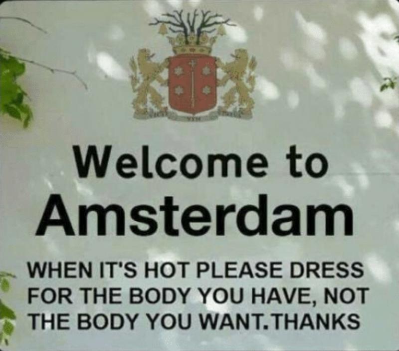 Hot take #Amsterdam pic.twitter.com/SgnnSE9cLO