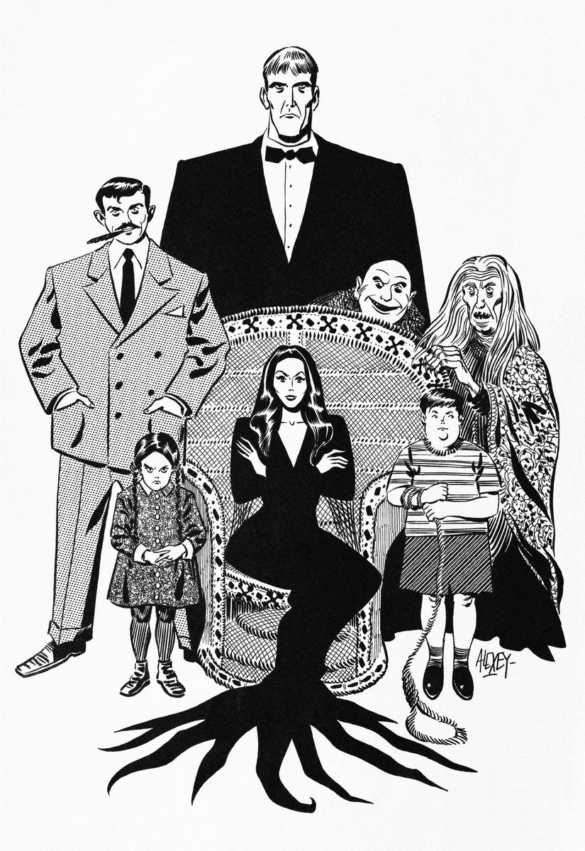 On of my favorite tv shows. A3 artwork. #addamsfamily #comics #ink pic.twitter.com/z3tgElrnPy