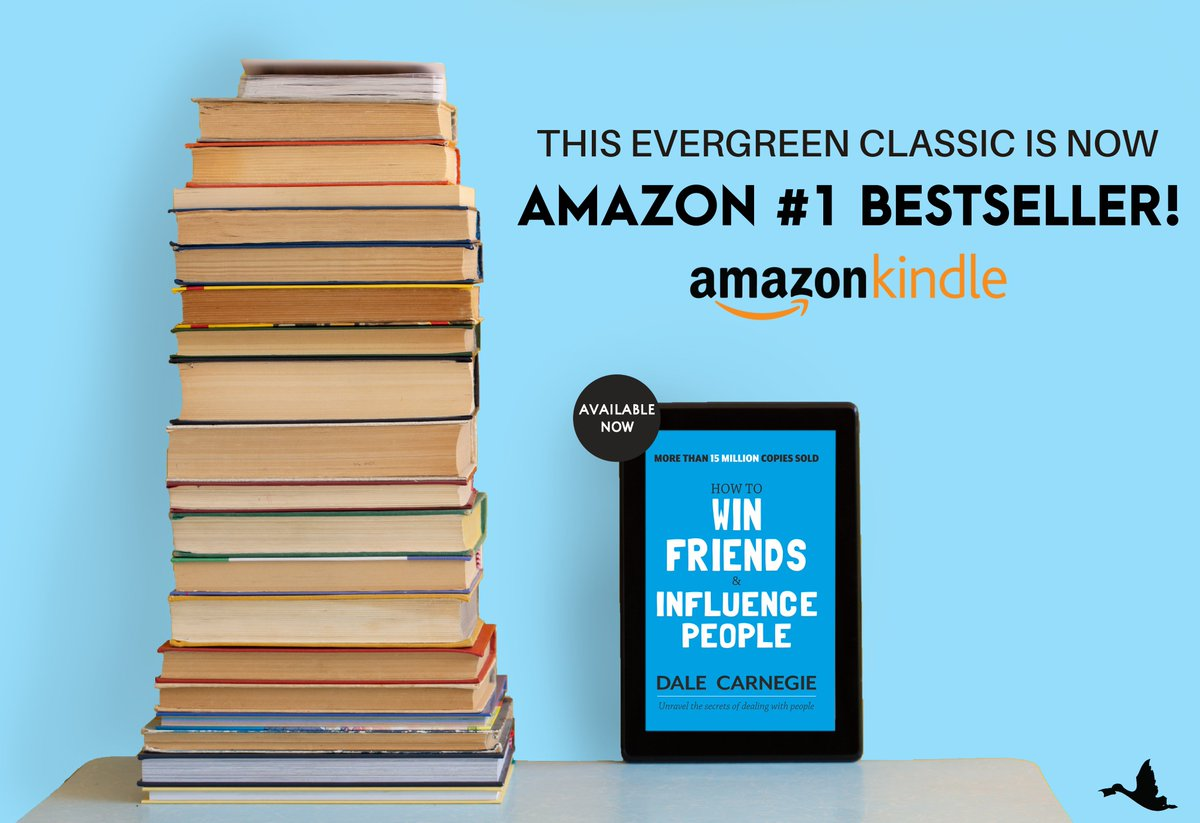 A #classic that gave birth to #selfhelp industry is still going strong and how! Thank you for making it the #1 #Amazonbestseller.  Buy eBook here: https://www.amazon.in/How-Win-Friends-Influence-People-ebook/dp/B07D17NY8N/ref=lp_21271248031_1_1?s=digital-text&ie=UTF8&qid=1585996684&sr=1-1…  #dalecarnegie #readinthetimeofquarantine #quarantinereading #kindle #kindlebooks #kindlereads #amazonkindlepic.twitter.com/RBAojajftx