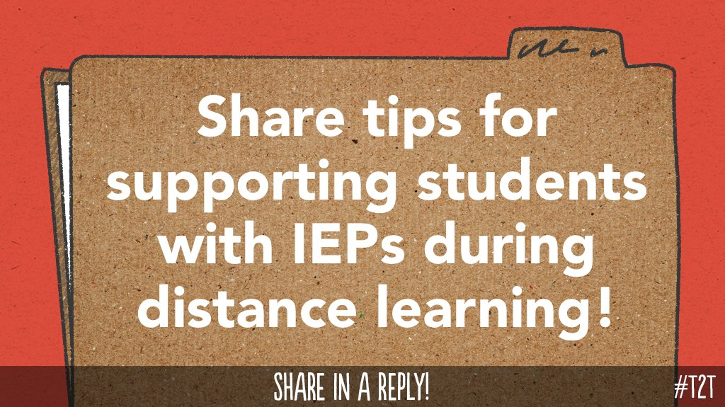 What #DistanceTeaching strategies might support learners with IEPs? #SPEDchat #COVIDteaching