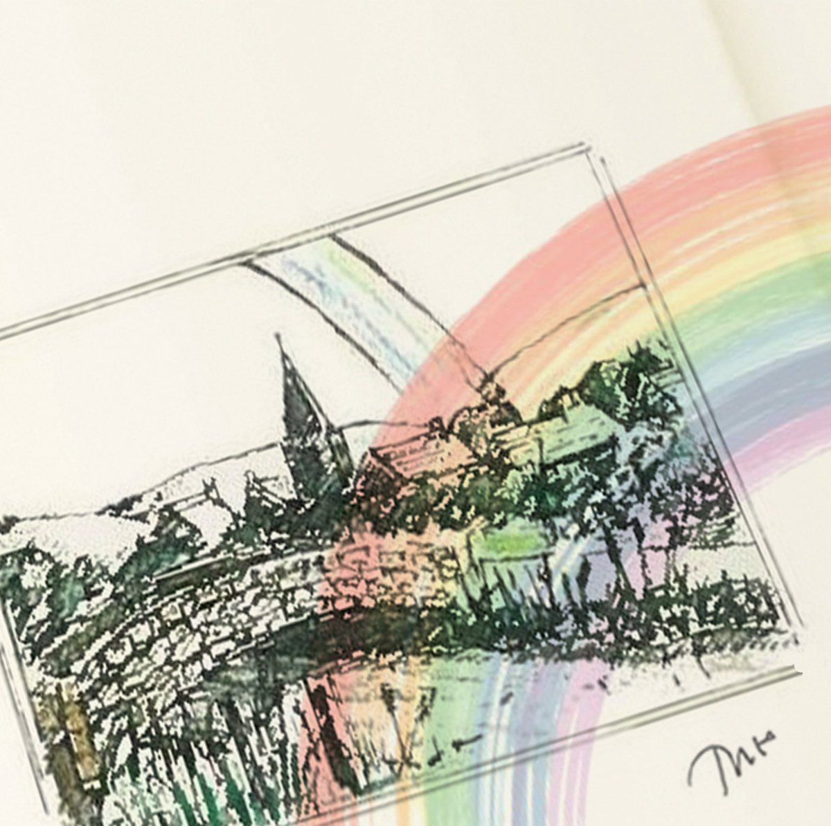 Away above the chimney tops That's where you'll find me #TheoFennell #OverTheRainbow #WizardOfOz #YellowBrickRoad #Sketch #Rainbow #PotOfGold pic.twitter.com/D0CfyyPuSJ
