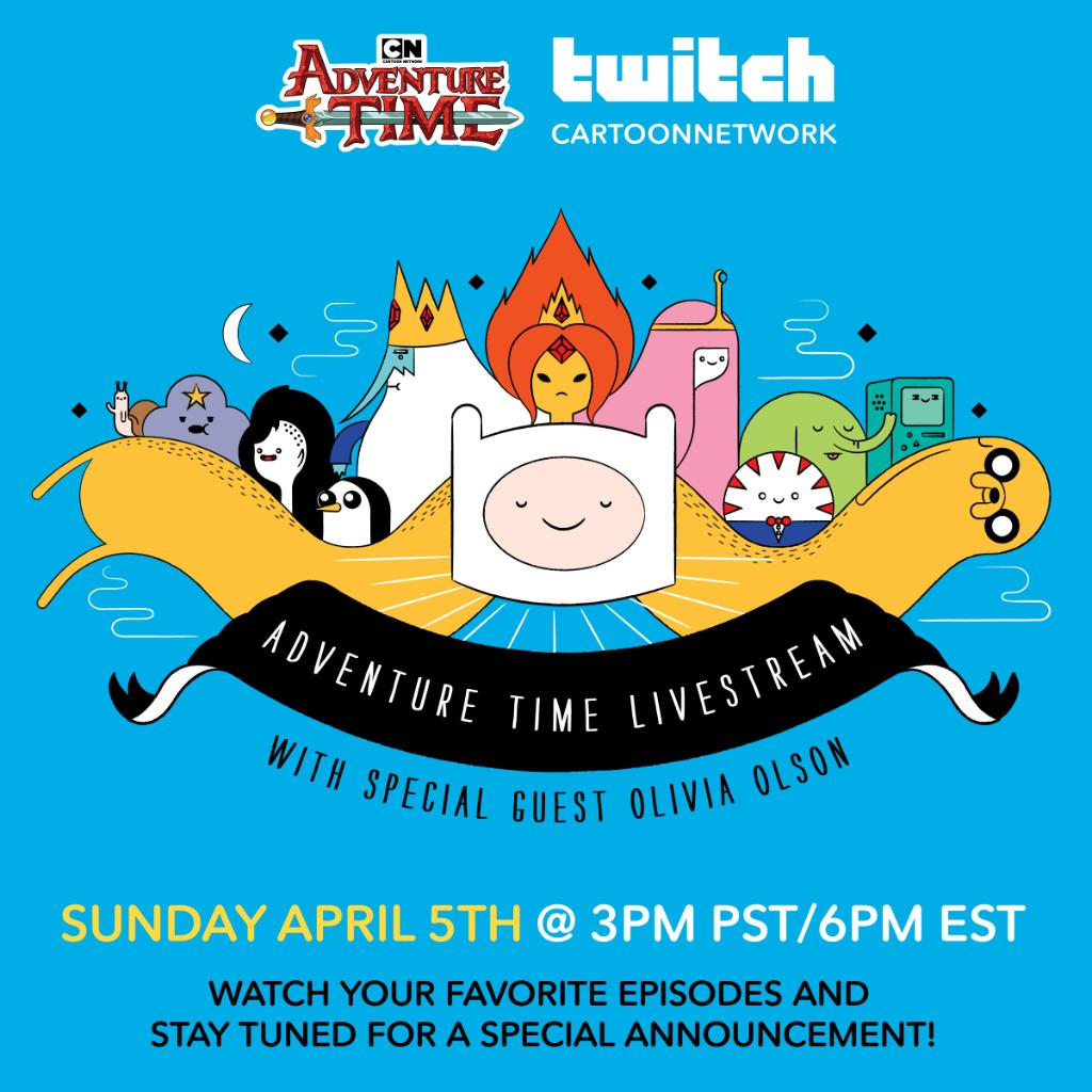 Join our Twitch watch party TOMORROW at 3pm PST/6pm EST! 🧛‍♀️🍎🎸 Hang out with @OliveOlson, voice of Marceline the Vampire Queen, and watch fan-favorite Adventure Time episodes!  CN Twitch 👉 http://twitch.tv/cartoonnetwork   #ConnectedTogether #adventuretime #cartoonnetwork