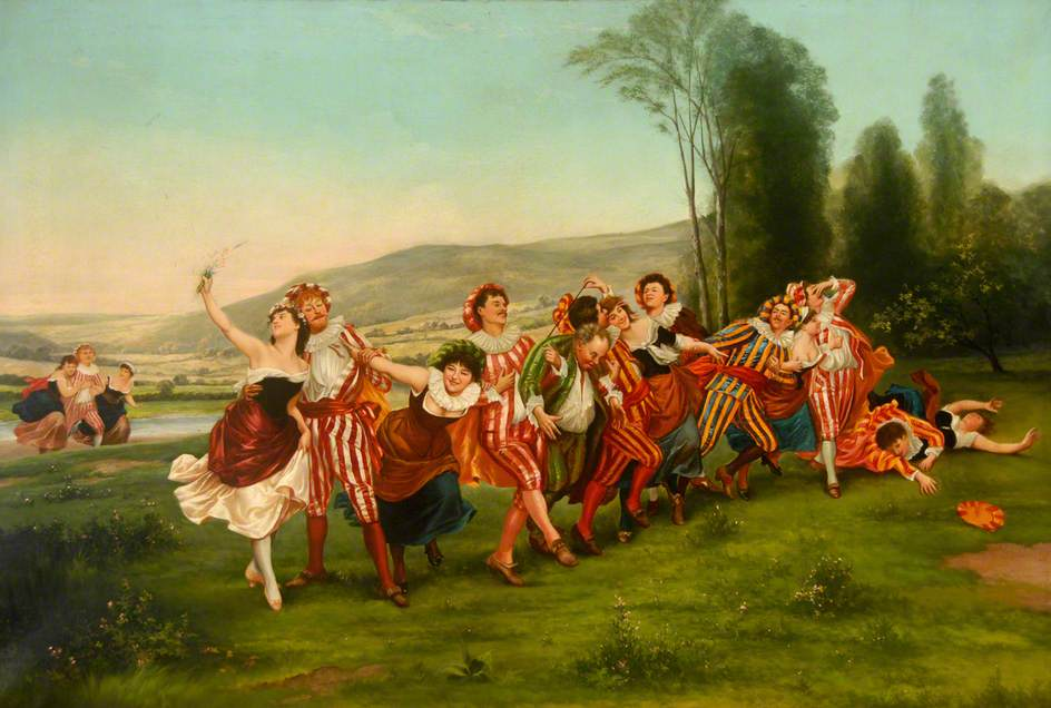The Joyous Band (date, nk) by Thomas Shotter Boys (1803-74). English watercolour painter & lithographer. Middlesbrough Institute of Modern Art. #Joy #Happinesspic.twitter.com/LvDusK5D3z