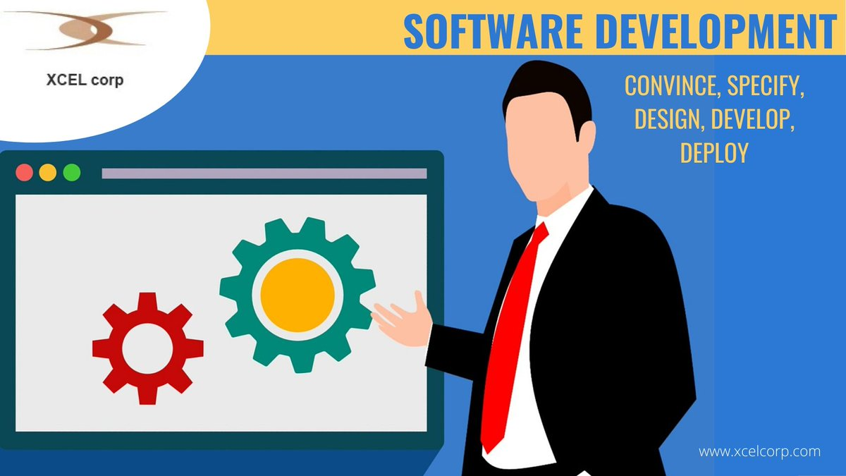 Software Development: Conceive, Specify, Design, Develop, Deploy:: Get software applications that will benefit your organization. Speak to experts at Xcel Corp at +(91) -   7550 290 888. #software #softwaredevelopment  #softwaredeveloper pic.twitter.com/V52BKbf6Dv