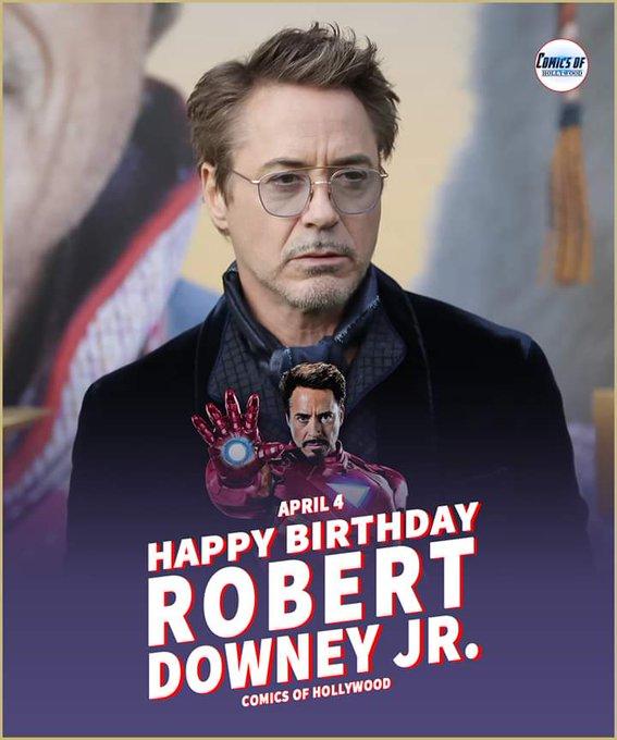 Happy birthday Robert Downey Jr.