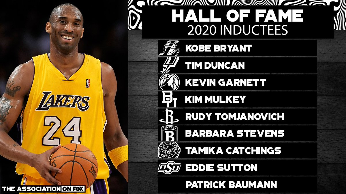 Congratulations to the 2020 Hall of Fame class 👏👏