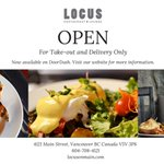 ✨🎉WE'RE OPEN FOR TAKEOUT AND DELIVERY!   We are happy to announce that the Locus will be re-opening for take out and delivery only. We will be serving a special menu that will be available to view on our website, on DoorDash and inside the Locus.  https://t.co/EVLYzKztL2