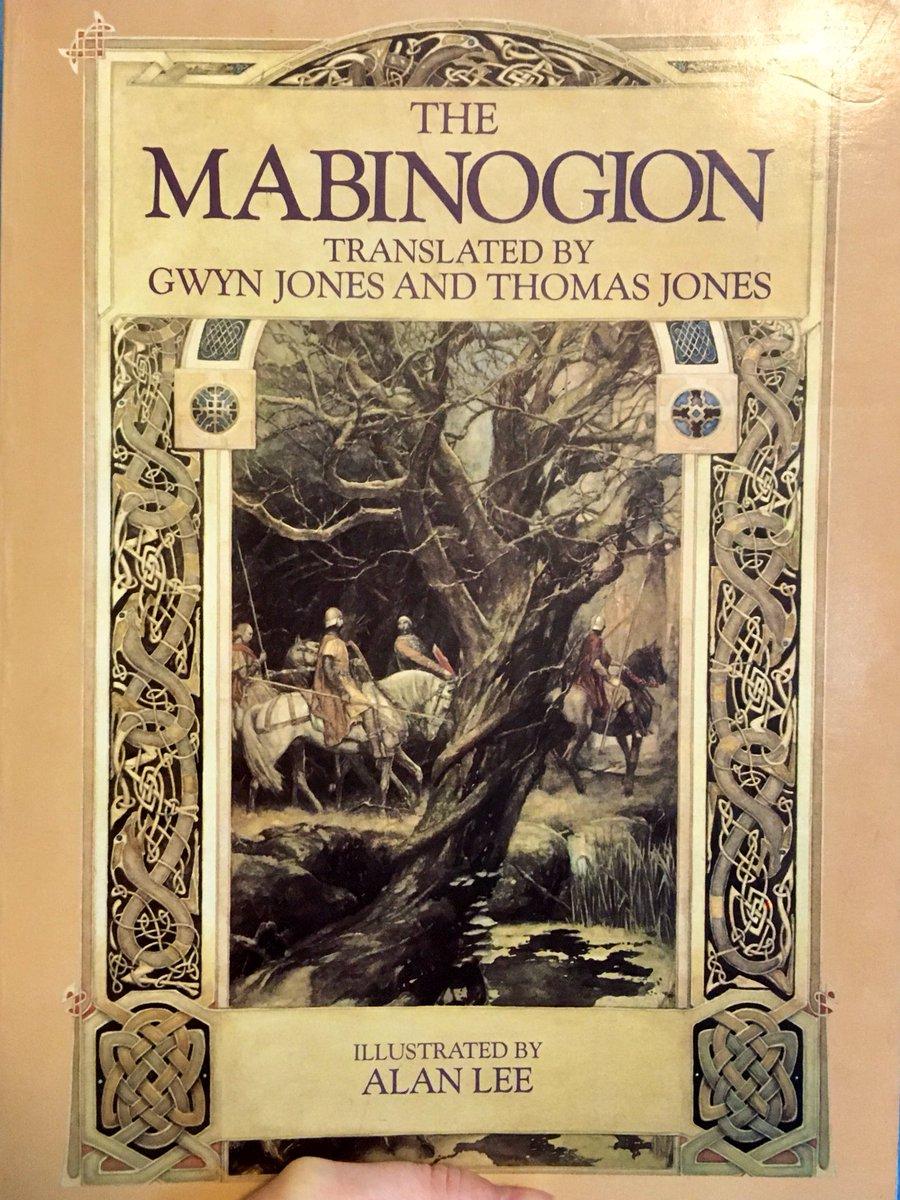 Still unpacking away... Just found my Jones and Jones #Mabinogion, illustrated by @AlanLee11225760! Here's Efnysien, Teyrnon, and Olwen! @FolkloreThurs #FolkloreThursday @UofGFantasypic.twitter.com/qhlzBK3dMS