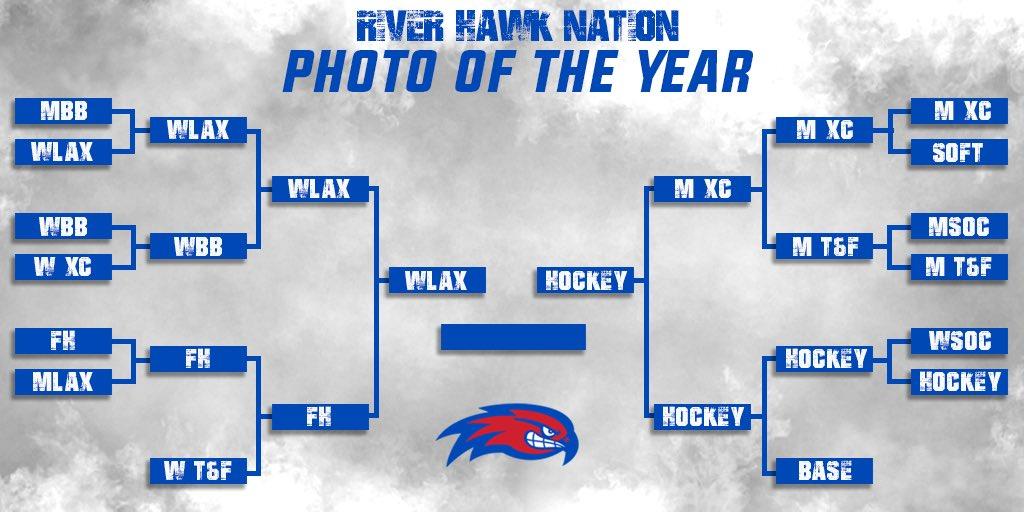 The grand finale 🥇 @RiverHawkWLax 🆚 @RiverHawkHockey YOUR 24HRS STARTS NOW 🗳 #UnitedInBlue