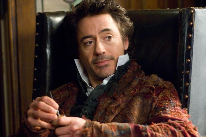 Here\s to the man whose mind rebels at stagnation. Happy Birthday to our Sherlock Holmes, Robert Downey Jr!