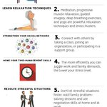 Image for the Tweet beginning: 7 ways to reduce stress: