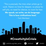 Image for the Tweet beginning: #CreativityInCrisis  Allow yourself some time