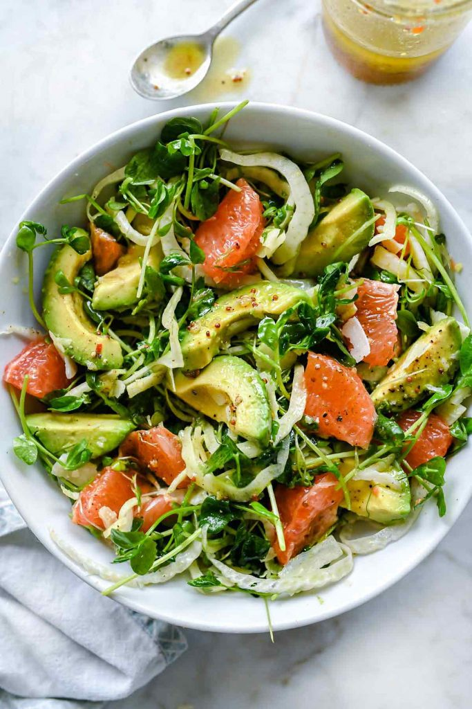 RECIPE: Avocado Grapefruit and Fennel Salad, a recipe inspired by the cookbook #SimplyCitrus, as seen by Heidi, from @foodiecrush: http://bit.ly/2FW0T5L  Learn more about Simply Citrus: http://bit.ly/GetSimplyCitrus  #saladlover #veganrecipes #citruslove #saladrecipespic.twitter.com/2doHIDR2UU
