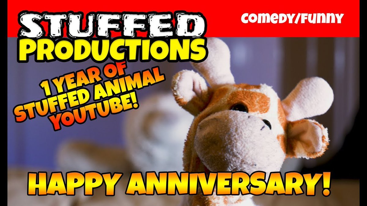 Our One Year Anniversary Parody Video! - Episode 1 Revisit! Watch Now! https://www.youtube.com/watch?v=re3k6bRXkds …   #Animals #Anniversary #ChannelAnniversary #Comedy #ComedyVideos #Cute #Funny #Indie #Lol #Plush #Plushies #StuffedAnimals #YouTube #Youtubechannel #videopic.twitter.com/FSg0G4tU30