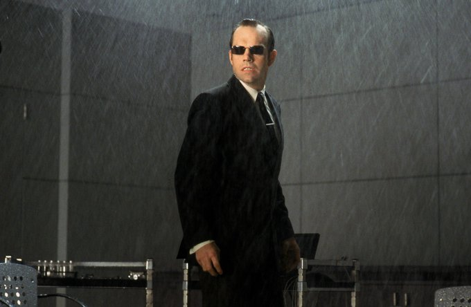That\s the sound of inevitability. Happy Birthday Agent Smith, Hugo Weaving!