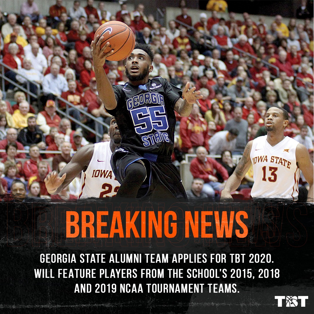 BREAKING: A @GeorgiaStateMBB alumni team (@PantherFamTBT) has applied for TBT 2020!  They will feature players from the school's 2015, 2018 and 2019 NCAA Tournament teams.   https://thetournament.com/teams/panther-family-georgia-state-alumni… pic.twitter.com/H0fWsYoSIC  by nisshi⁰⁸²⁵ 💕like/rt new pinned💕