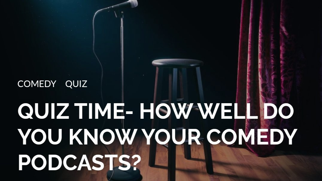 So, how well do you know your comedy podcasts?  https://www.rgm.press/quiz-time-how-well-do-you-know-your-comedy-podcasts/comedy/…  Let us know your scores.  #comedypodcast #quiznightpic.twitter.com/B9lqIaydrA
