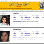 Image for the Tweet beginning: DISCONTINUED AMBER ALERT for Kiley