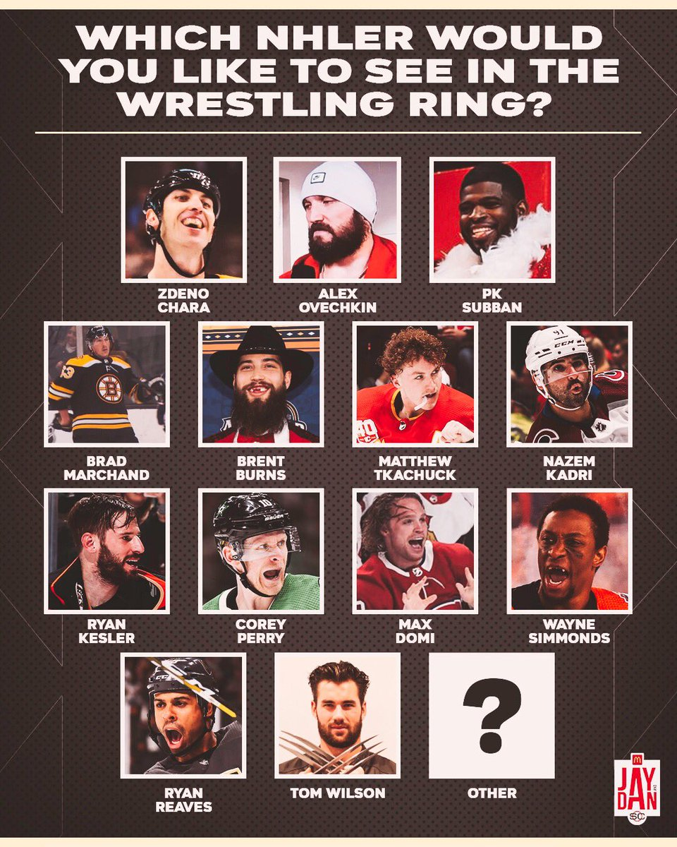 Which NHLer would you like to see in the wrestling ring? 🤔🏒🤼 #JayAndDan