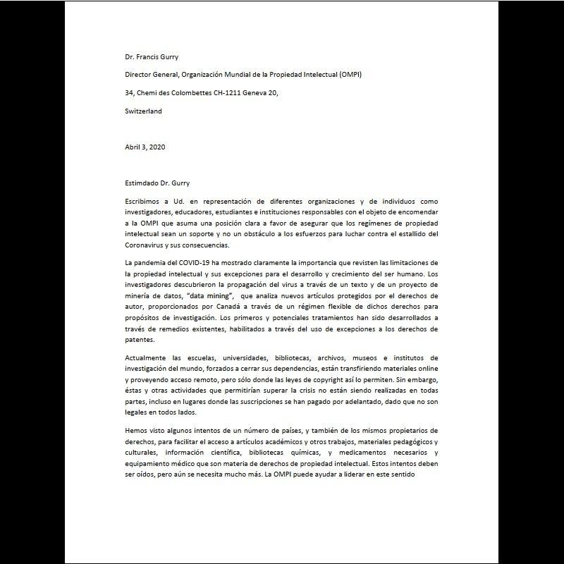Ya vieron la iniciativa de #IFLA para peticionar ante la #OMPI pidiendo #excepciones para la #PropiedadIntelectual en éstos tiempos de pandemia?  Les dejamos el link para adherir y la traducción de la carta (realizada por nosotros). Súmen su firma y RT! https://t.co/yzcVYhMmNy https://t.co/qDfU76T8r9
