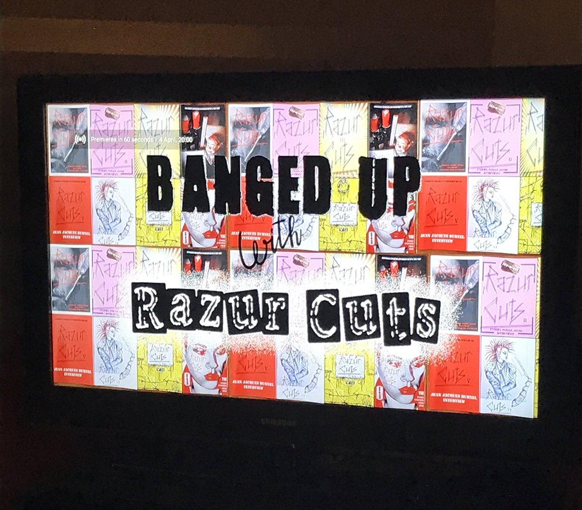 Tonight's entertainment part 1 - banged up with @razurcutsmag on @YouTube 8pm #StayAtHome #stayhomebands