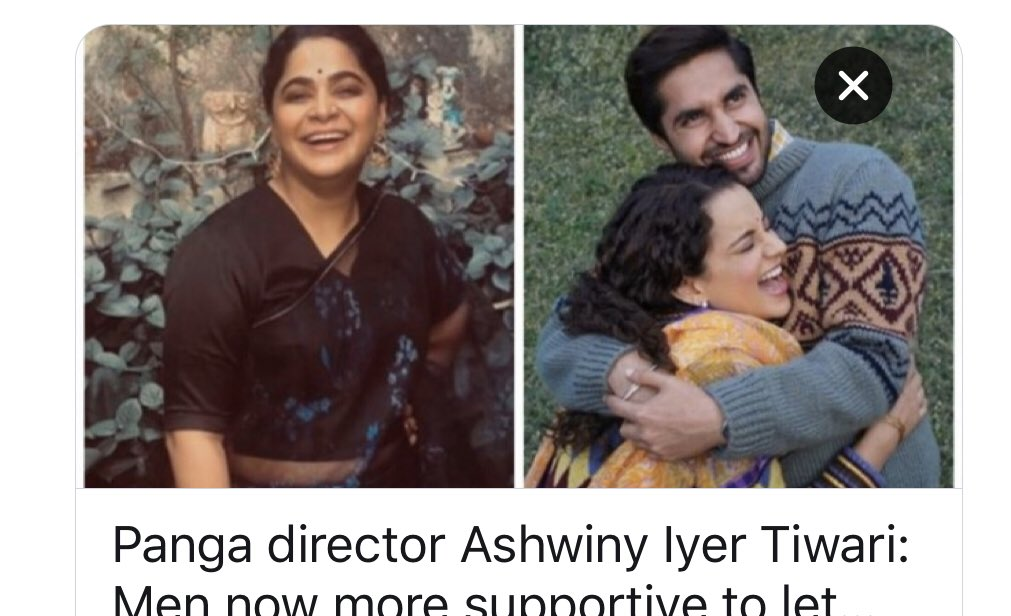 Panga director @Ashwinyiyer Men now more supportive to let women build their careers - Movies News https://www.indiatoday.in/movies/bollywood/story/panga-director-ashwiny-iyer-tiwari-men-now-more-supportive-to-let-women-build-their-careers-1641472-2020-01-30…  Transforming Gender Relation a must watch Bollywood Film @jassiegill @PattyArquette @Rosie @RoArquette @SimoneBoyce @ShoojitSircar @RobertoValentUN @paragapic.twitter.com/93LkMhde6J