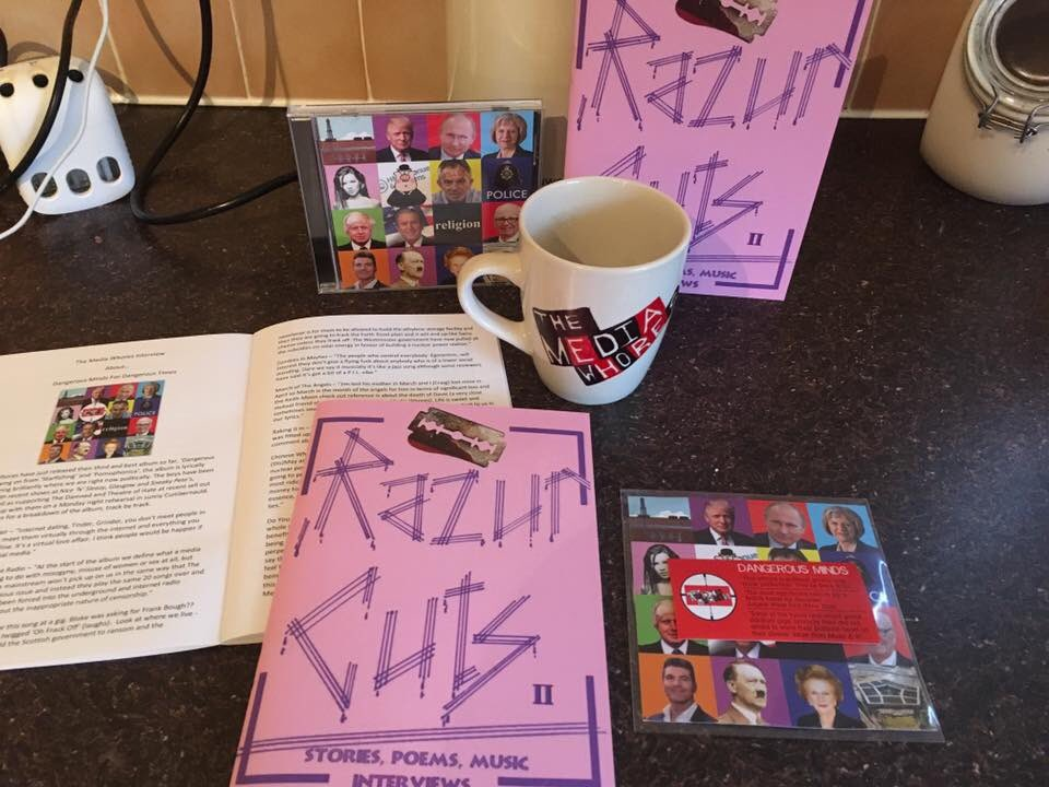 We are chuffed to have featured in @razurcutsmag editions 2 & VII Thanks to @Deeko1876 & @bodge1876 and the team!  #DIY #StreetLit #Zine  pic.twitter.com/Po887T9njB