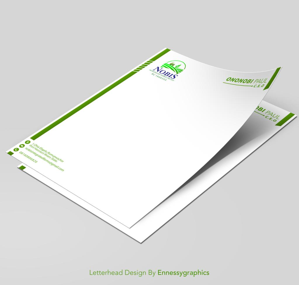 Letterhead design for NOBIS INTEGRATED FARMS LIMITED.... #letterhead #letterheaddesign #logo #logodesign #flyer #graphics #graphicsdesign #graphicsdesigner #farm #farms #farming #poultry #StayAtHome #staysafe  #WFH #ennessygraphicspic.twitter.com/XLnQ5gWL1Y