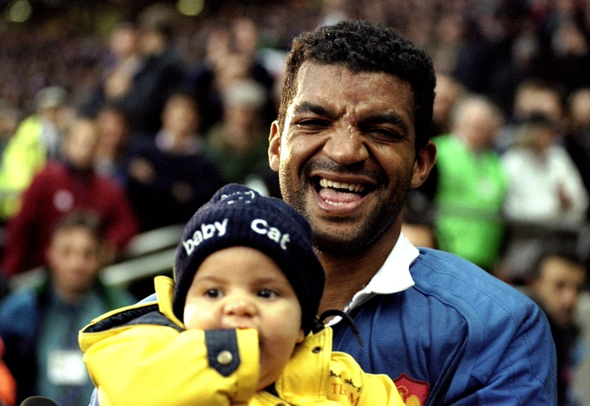 test Twitter Media - Émile Ntamack celebrates with son Romain after the RWC 1999 semi-final win against New Zealand.  ⏩ Fast-forward 20 years and Romain makes his RWC debut in Japan.  You can still watch the classic semi-final clash from 1999 in full below 👇 https://t.co/wJxyjUw3DV https://t.co/21WIk0zOZV