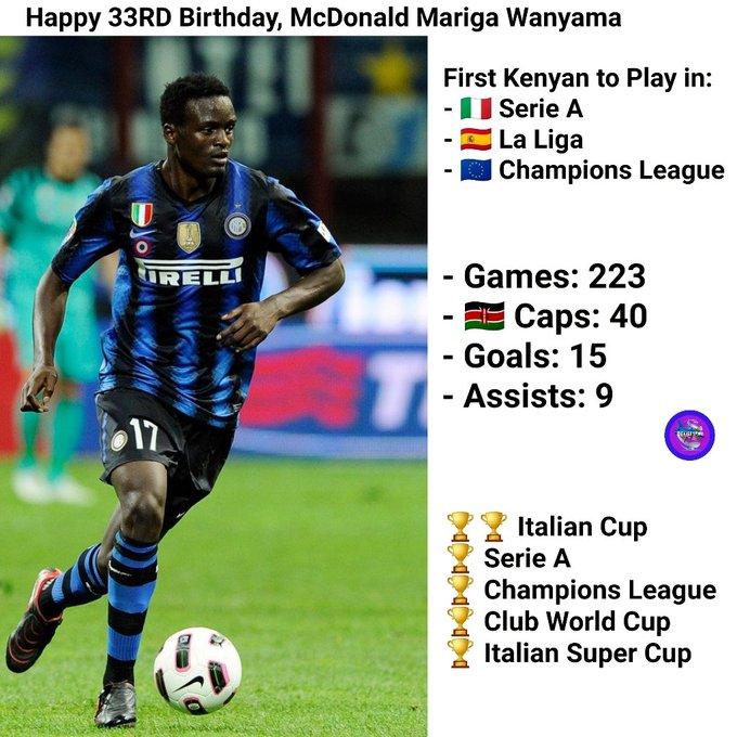 Happy 33rd Birthday, McDonald Mariga Wanyama.