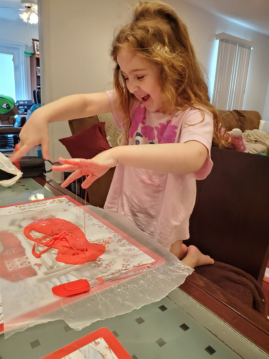 The kids always ask can we make slime during makerspace and I have always said no. Today my daughter begged so I caved in. Omg now I know why I say no! <br>http://pic.twitter.com/MVSk5dIVjR