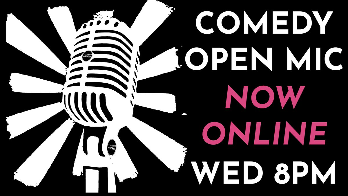 Were keeping the show on the road by taking the show off the road! Join us live every Wednesday at 8pm for our weekly  Open Mic featuring some of the Uptown communitys best and worst comics! #quarantineandcomedy  #openmic  #standup  #comedy  #coronaandcomedy  #uptownutica
