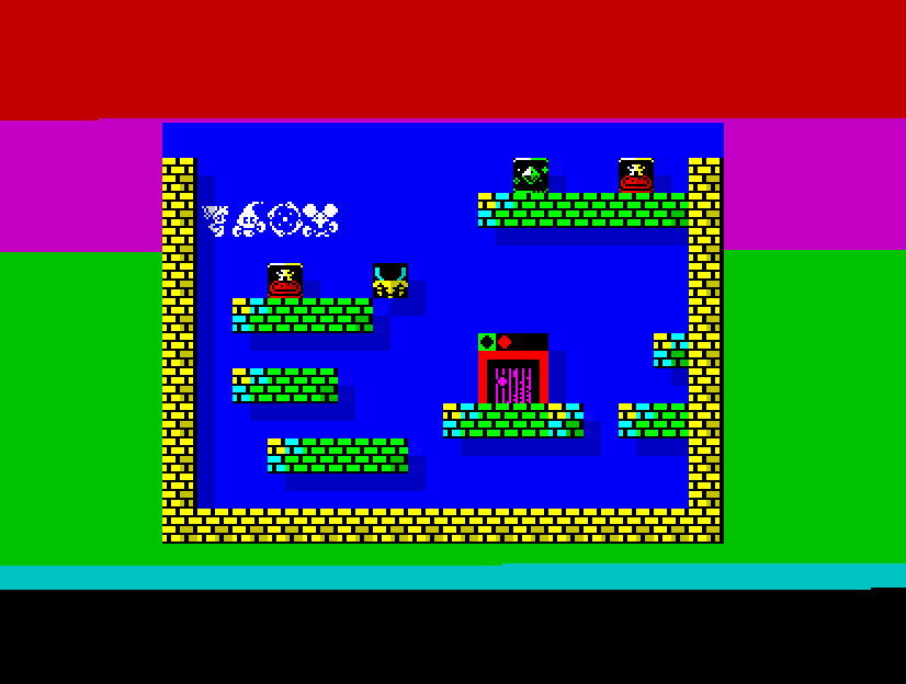 #8bit #retroprogramming #retrogaming #speccy #pixelart I have been working on a level editor for the game on #pico8. I have also started to code the #ZXSpectrum version and I have the sprite engine ready. 50fps but not that many cycles left...pic.twitter.com/QIvzurAIQm