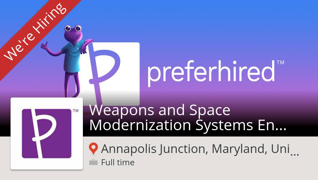 Are you a Weapons and Space Modernization #Systems #Engineering  (SE6) in #AnnapolisJunction? #Preferhired is waiting for you! #job https://workfor.us/preferhired/1cd  #referafriend #gigrecruiting #referandearn #jobs #hiring #referralspic.twitter.com/i1Je2RKkVZ