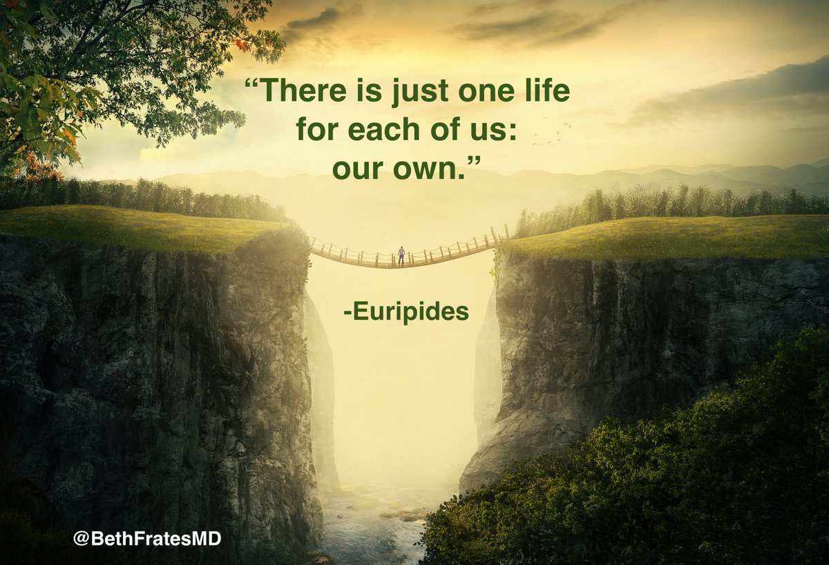 There is just one life for each of us: our own. Euripides #SaturdayThoughts #SaturdayMotivation #IAM #QOTD