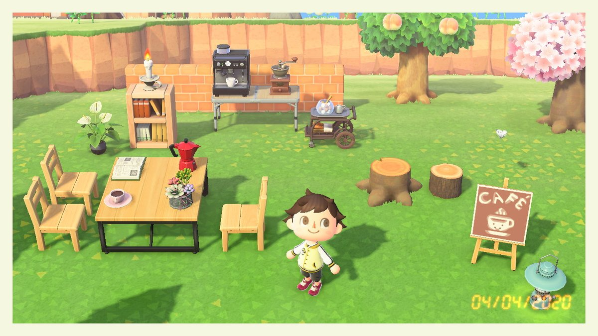 Tahk0 En Twitter An Update On My Little Outside Cafe Animalcrossing Acnh