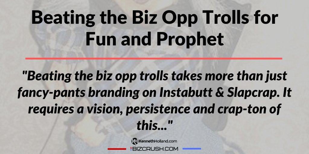 Beating the Biz Opp Trolls for Fun and Prophet https://bizcrush.com/biz-opp-trolls/ #successmindset pic.twitter.com/vNRWAmQY9g