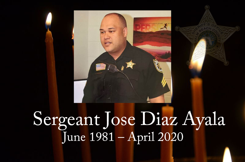 As a law enforcement family, #LASD would like to extend our condolences to @PBCountySheriff on the loss of a brother. Sergeant Diaz Ayala, Rest in Peace Sir!