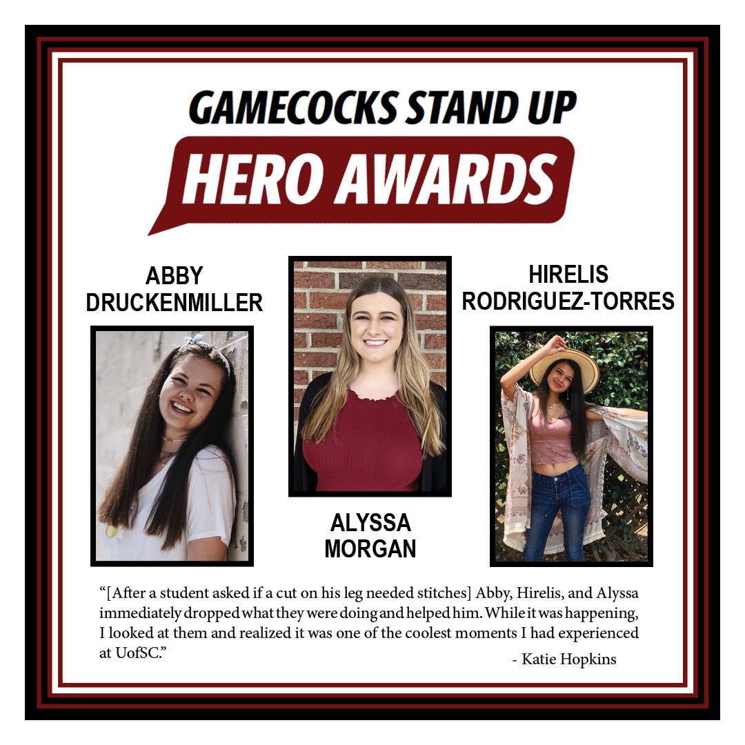 Abby Druckenmiller, Alyssa Morgan & Hirelis Rodriguez-Torres