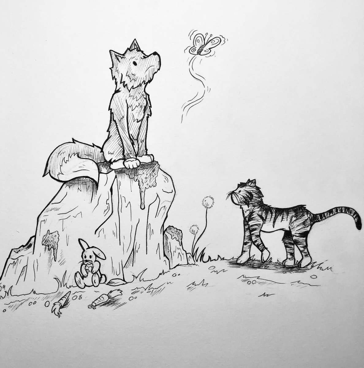 ~ A Quiet Day ~  #animestyle #animal #animaldrawings #cat #dog #bunny #drawing #inkdrawing #sketching #catdrawing #dogdrawing #comic #comicstyle #artstyle #cutedogs #cutecatspic.twitter.com/LxQUmkZihs