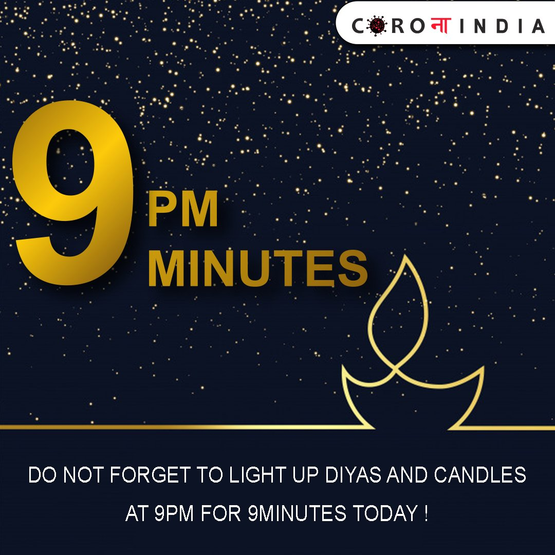 Do Not Forget To Light Up Diyas And Candles At 9 PM For 9 Minutes Today!  #candlelight #besafe #light #indiafightagainstcovid19 #corona #coronavirus #CoronaAlert #india #follow #trendingnow #followforfollowback #staysafe #stayhome #stayhealthy #support #indian #safetytips