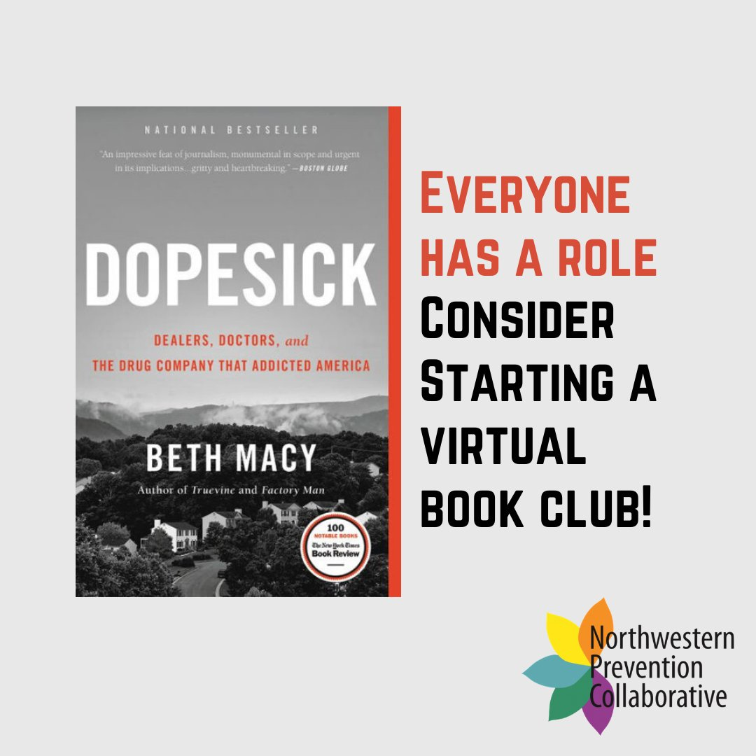 An easy way to spread awareness about the opioid epidemic from home? Start a virtual book club! We recommend 'Dopesick' by Beth Macy. #Everyonehasarole https://t.co/x4vri9ijEl