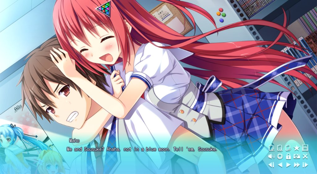 -Oh God I wish that were me (right now I'm imagining it)  Game: Sankaku Renai Love triangle. RT/Like #Sankaku #videogames #otaku #visualnovel #Animegirl #cute #animelove #Japan #art #anime #Manga #Animeworld #Redhair #Childhoodfriend #Datingsimpic.twitter.com/VINFyqEkDJ