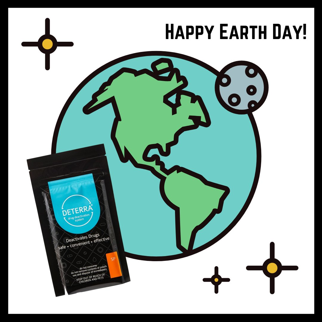 Happy Earth Day! #EveryoneHasARole in the opioid crisis, and disposing of prescription drugs is a way to practice safe prescription use AND environmental stewardship. Reach out to us for more information on Deterra Drug Deactivation Systems! https://t.co/ItPrfbd9SB