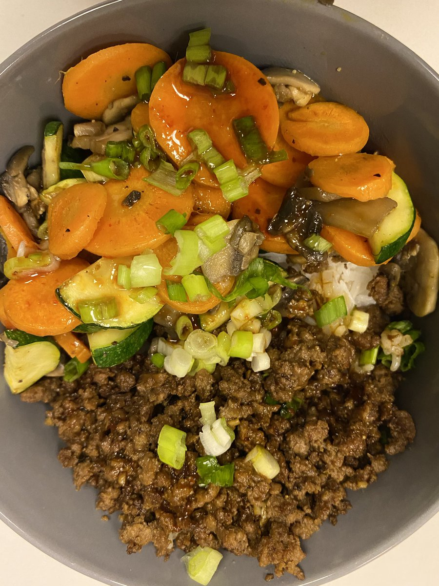 Cesar On Twitter Korean Beef Bibimbap With Zucchini Mushrooms