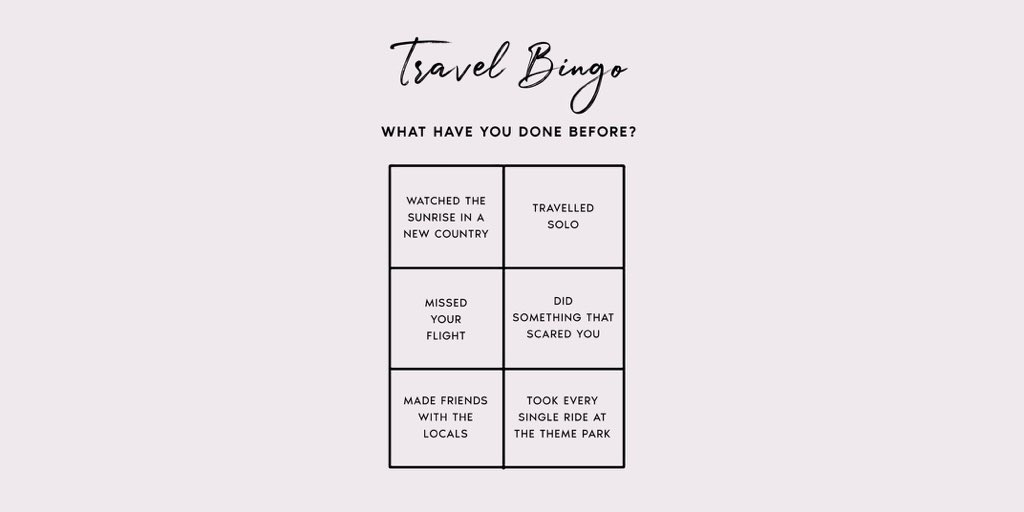 ✔️Join our STRING Travel Bingo! What have you done before? 🗺️⁠ #adventure #journey #wanderlust #bingo