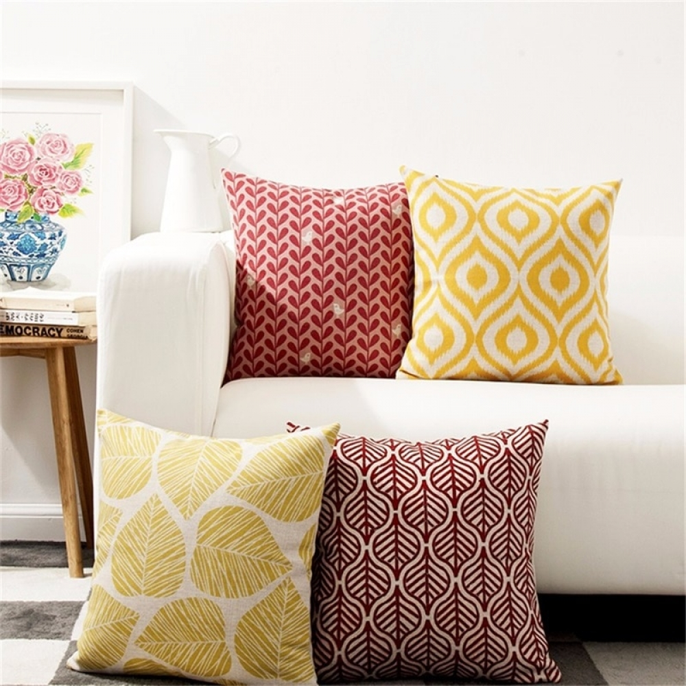 #myroom #wall Retro Geometric and Leaf Patterned Cushion Cover pic.twitter.com/UOdSaMdfPm