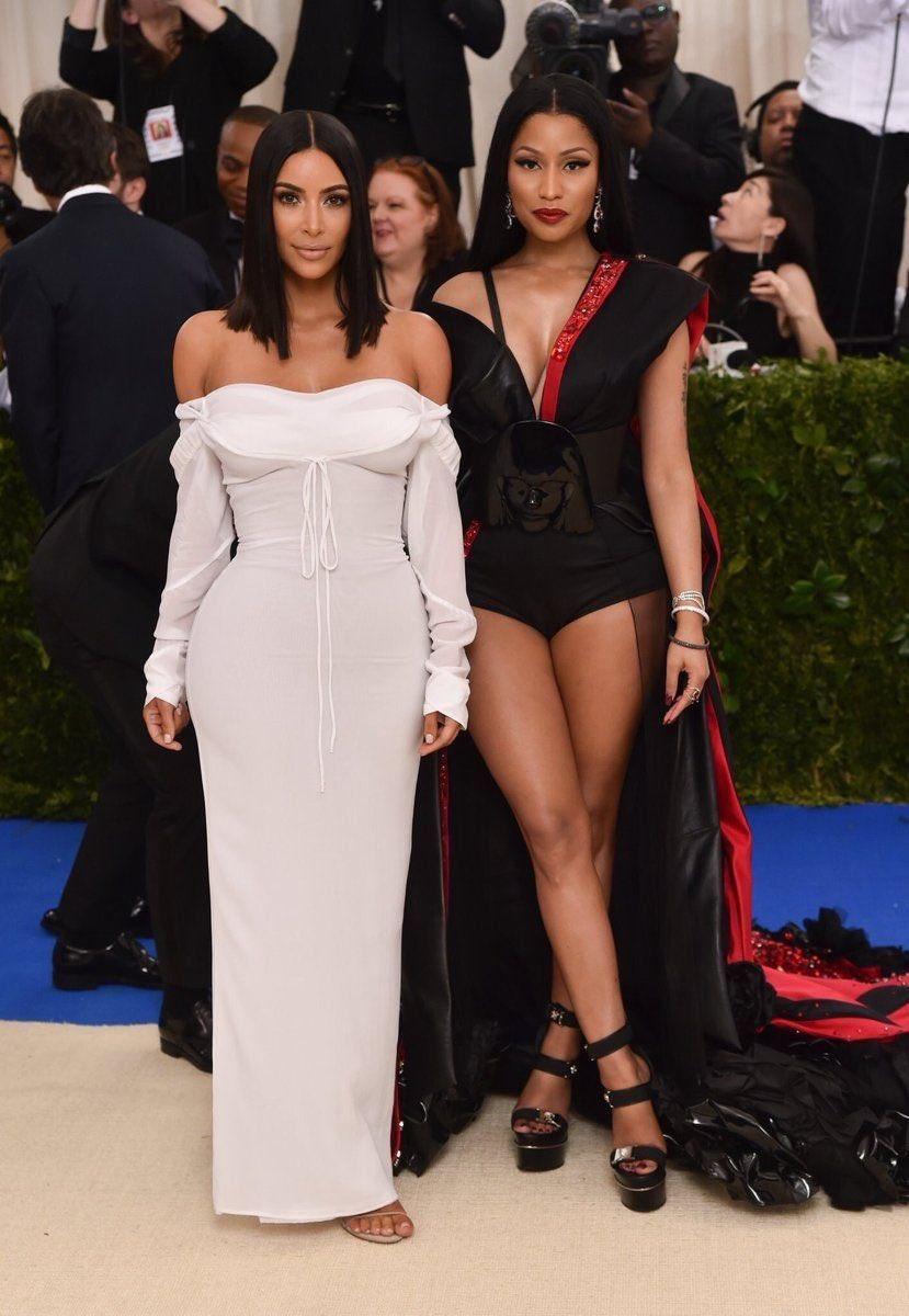 Nicki Minaj and Kim Kardashian. That's it, that's the tweet.  <br>http://pic.twitter.com/oIRuAQCSKR