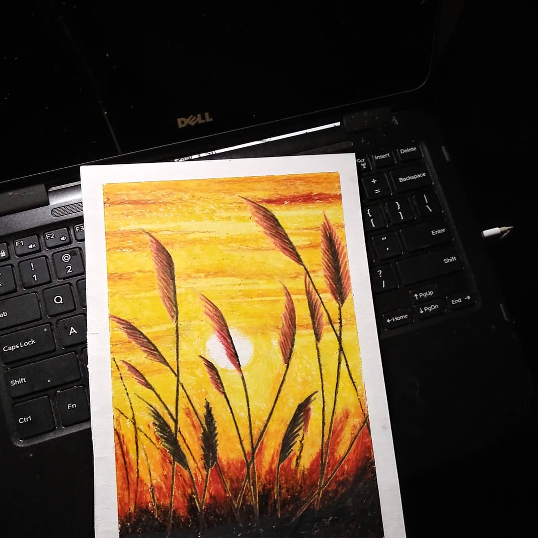 Color pastel Golden Wheat fieldSunset on the hacienda  I NEEEED FOLLOWERRRRRRS....#pastel #oilpastel #art #sketchbook #sunset #sunsets #silhouette #artists #artistic #artist #create #creator #shoutout #localartist #sketches #likes  #follow #followers #tagpic.twitter.com/9QaXWhGpQW